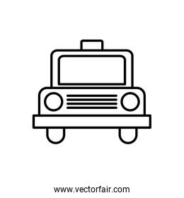 taxi transportation vehicle travel icon. Vector graphic