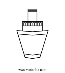 ship transportation vehicle icon. Vector graphic