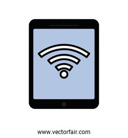 tablet gadget technology display icon. Vector graphic