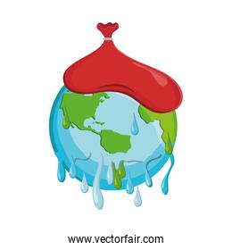 save planet earth ecology icon. Vector graphic