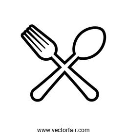 cutlery product silhouette icon. Vector graphic