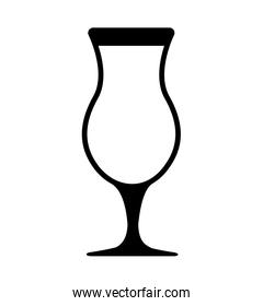 glass beverage drink icon. Vector graphic