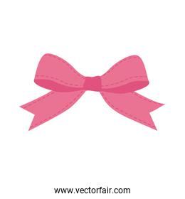 pink bowtie ribbon cute icon. Vector graphic