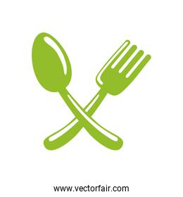 fork spoon cutlery icon.Vector graphic