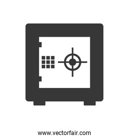 strongbox security system icon. Vector graphic