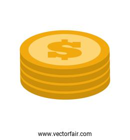 coins money financial item. Vector graphic