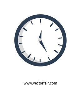 time traditional clock simple icon. Vector graphic
