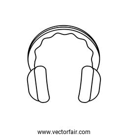 headphone music melody sound icon. Vector graphic