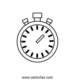 chronometer time running fitness icon. Vector graphic