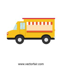 truck food transportation delivery icon. Vector graphic