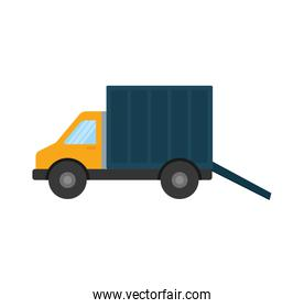 truck delivery shipping icon. Vector graphic