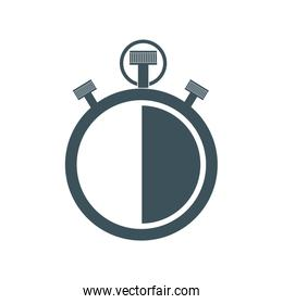 chronometer time instrument icon. Vector graphic