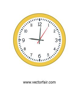 clock traditional time instrument icon. Vector graphic
