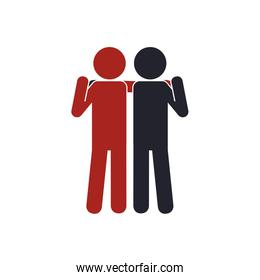 pictogram human help support icon. Vector graphic
