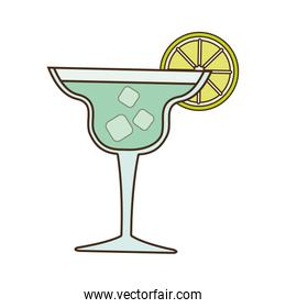 cocktail alcohol drink beverage icon, vector illustration
