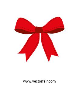 red ribbon bowtie icon, vector illustration
