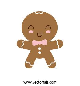 cookie merry christmas icon, vector illustration