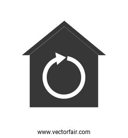Smart house technology icon