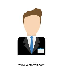 Businessman avatar business icon