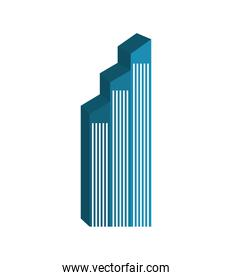 Building tower silhouette icon