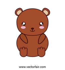 bear kawaii cute animal icon