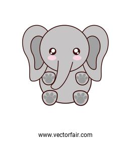elephant kawaii cute animal icon