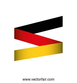 flag colors germany europe icon