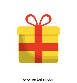gift present bowtie red ribbon icon