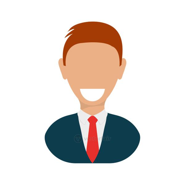 man male avatar suit person icon. Vector graphic