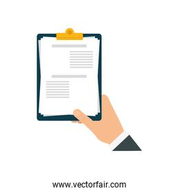 check list document paper hand icon. Vector graphic