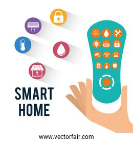 Smart home house icon set