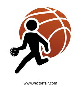 pictogram player and basketball design