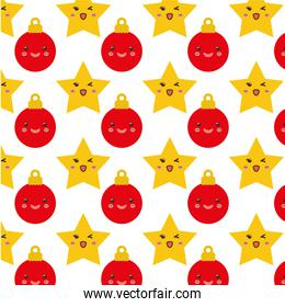 Stars and spheres of Christmas background