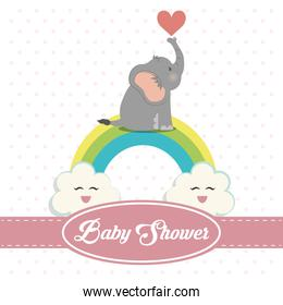 Baby shower invitation card design