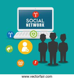 Social network vector design