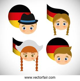 German person in traditional dress