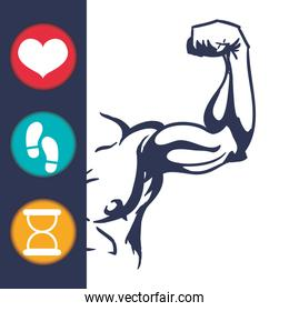 fitness app technology icons
