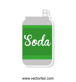 soda drink beverage isolated icon