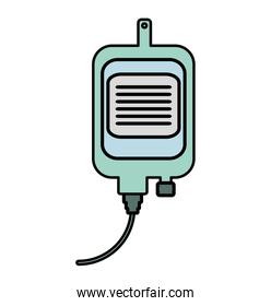 iv bag medical isolated icon