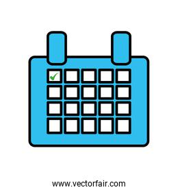 calendar reminder mark day isolated icon