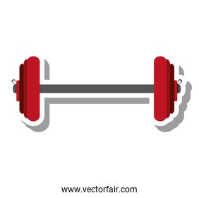weight lifting equipment isolated icon
