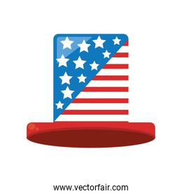 hat with usa flag icon