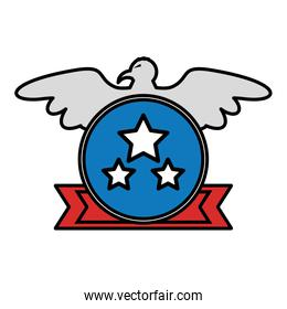 united states of america with eagle emblem