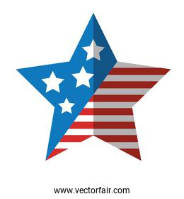 star with usa flag icon