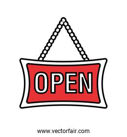 open store label isolated icon