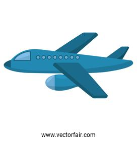 airplane fly isolated icon