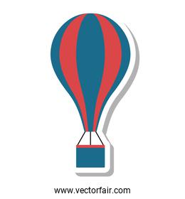 balloon air hot fly isolated icon