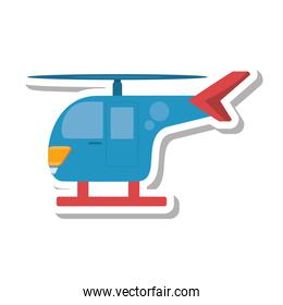 helicopter transport isolated icon