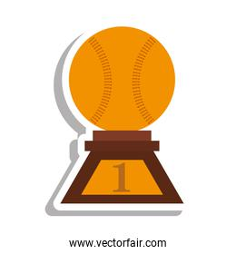 baseball trophy championship isolated icon