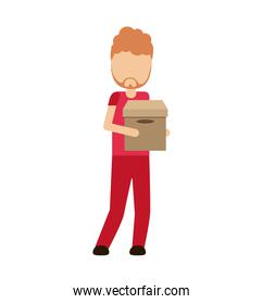 logistics worker delivery service